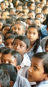 Children in the school school at Beldih, West Bengal